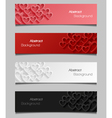 Set of abstract valentine banners vector image vector image
