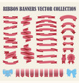 set of hand drawn ribbons vector image vector image