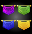 set templates multicolored flags vector image