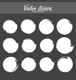 set vintage ink painted labels for greetings vector image vector image