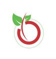 simple o letter organic farm logo vector image