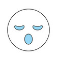 sleepy cartoon face design vector image vector image