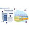 special equipment for ticket terminal slide vector image vector image