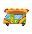street fast food mobile food car hot dog fast vector image