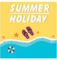 summer holiday seashore holizon beach background v vector image vector image