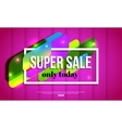 Super Sale shining banner on pink background vector image vector image