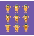 Usb Stick Emoji Character Set vector image vector image