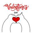 valentines day greeting card design template vector image