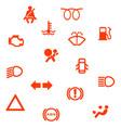 vehicle dash warning symbols vector image