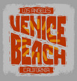 venice beach los angeles california vintage vector image vector image
