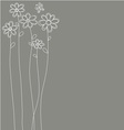 white flowers hand drawn vector image vector image