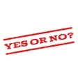 Yes Or No Question Watermark Stamp vector image vector image
