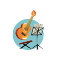 symbols of the musician profession acoustic vector image