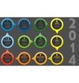 - Calendar 2014 vector image