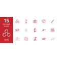 15 gun icons vector image vector image