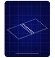 3d model of notebook on a blue vector image vector image