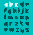 Abstract alphabet vector image vector image