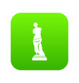 ancient statue icon digital green vector image vector image