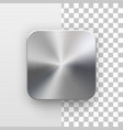 app icon template with metal texture vector image vector image