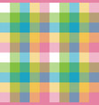 baby color pixel plaid seamless pattern vector image vector image