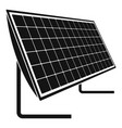 battery solar panel icon simple style vector image