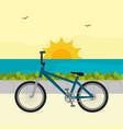 bicycle in beach scene