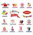 big set logos carnival vector image