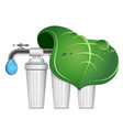 bio water purification filters vector image vector image