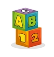 blocks game toy isolated icon vector image