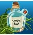 Bottle at the bottom with note vector image vector image