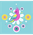 bright seamless print with cute parrot and vector image