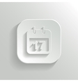 Calendar icon - white app button vector image vector image