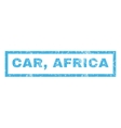 Car Africa Rubber Stamp vector image