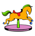 carousel horse icon icon cartoon vector image vector image