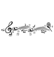 Clef music notes microphon vector image vector image