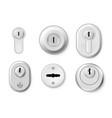 collection realistic metallic keyholes vector image vector image