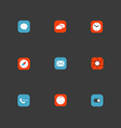 Color interface icons collection Design elements vector image vector image