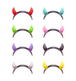 colorful evil horns head gear vector image vector image