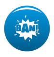 comic boom bam icon blue vector image vector image