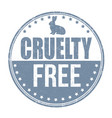 cruelty free sign or stamp vector image vector image