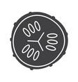 cucumber slice glyph icon vector image vector image