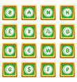 currency from different countries icons set green vector image vector image
