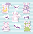 easter day kawaii vector image vector image