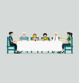 family dining table vector image vector image