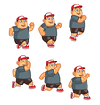 Fat Boy Jumping Sprite vector image vector image