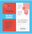 files copy company brochure title page design vector image vector image