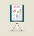 flipchart with report presentation vector image