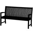 garden bench vector image vector image