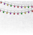 Garland of colored paper lanterns vector image vector image