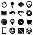 General icons on white background vector image vector image